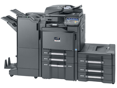 Main configured with 4 000 sheet finisher and additional paper trays